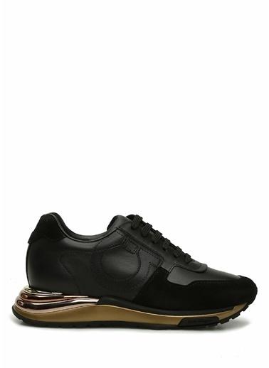 Salvatore Ferragamo Salvatore Ferragamo  Kadın Deri Sneaker 101630827 Siyah